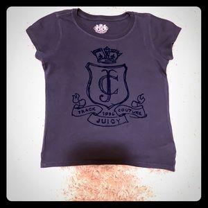 ❄️Juicy Couture Navy Graphic Tee Junior Girls Sm